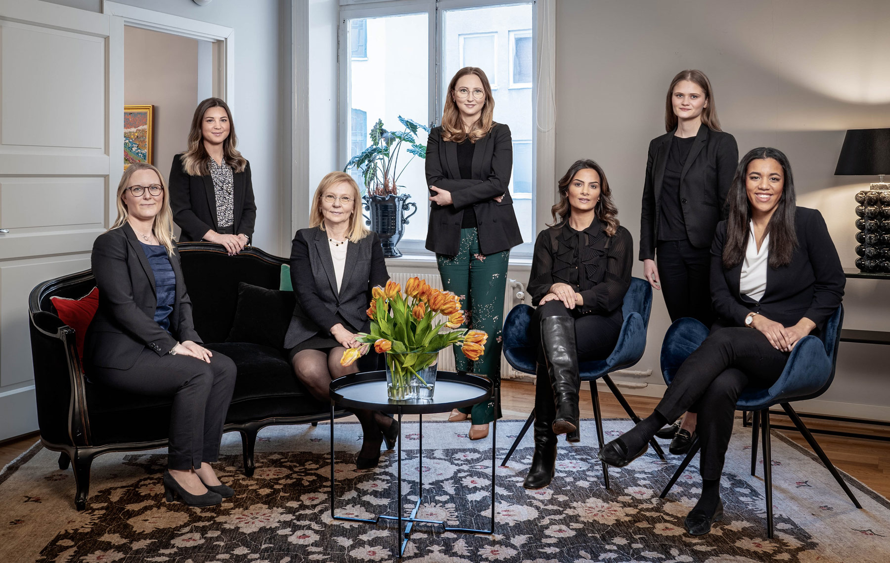 Personal hos advokaterna Maarit Eriksson och Andréa von Sivers